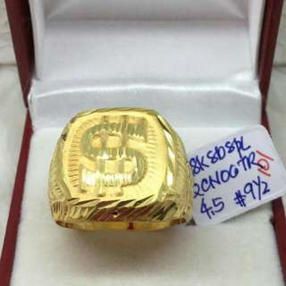 ring for men saudi gold 18K