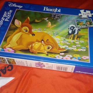 puzzle bambi 2 in 1 ravensburger