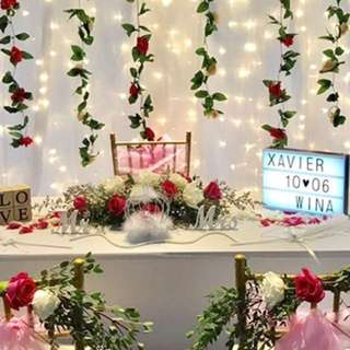 Affordable wedding Party Garlands rom table decoration