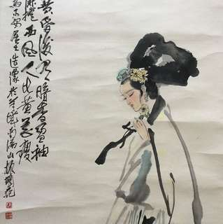 画家陈振国120x53cm Chinese painting