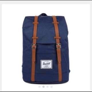 🈹Herschel Retreat Classic Backpack Navy Unisex Backpacks✨全新✨👉🏻代友放👈🏻