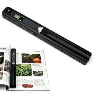 Handheld portable document scanner 900dpi lcd display battery power