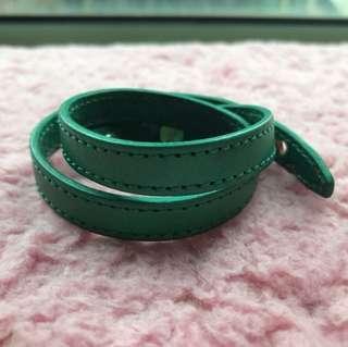 綠色真皮手環