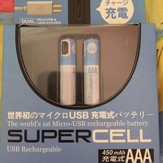 Micro usb rechargeble AAA battery