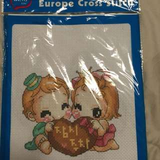 Cross stitch set for beginners 1-$10 2-$18