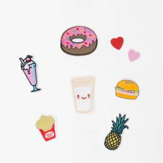 Love Bonito Fast Food Iron-on Patch Set