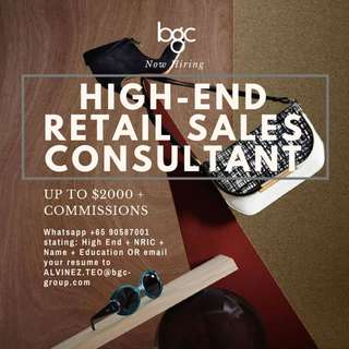 HIGHEND LUXURY RETAIL SALES CONSULTANT UP TO $2000+COMMS(AZ)