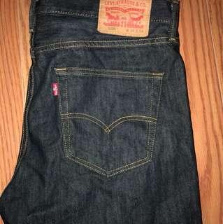 Custom ripped Levi jeans 508 w34 l34