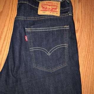 Dark Blue Levi jeans 514 w32 l30