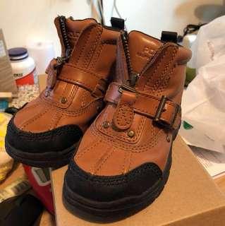 Ralph Lauren Polo kid leather boot size US8.5/UK8