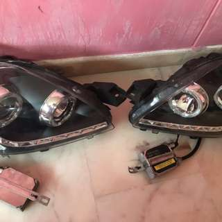 HID headlight with led strap vios ncp93