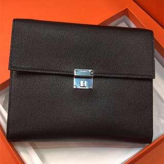 正品 全新 Hermes Clic 16 黑色 銀扣WOC 斜揹小袋 最新款大熱!