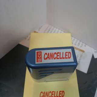 cancelled 印