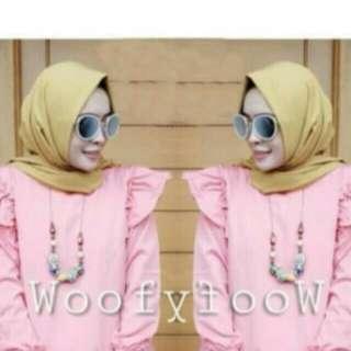 Sale Pink Blouse & Pashmina