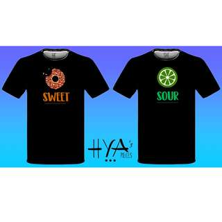 """Couple Shirt """"Sweet and Sour"""""""