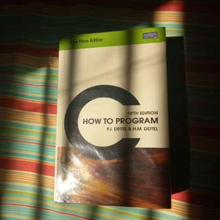 C - how to program fifth edition