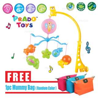 Baby Kids Crib BED-BELL-01 Music Box Hanging Bed Bell Toys + FREE Mummy Bag
