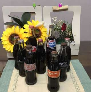 Coka cola collections x 9 bottles