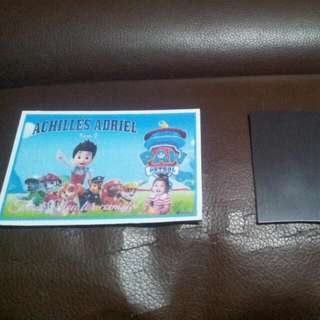 Customize Ref Magnet (wallet size)