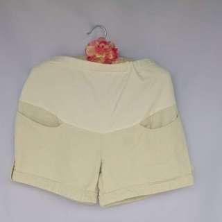 Beige Maternity Shorts Size M