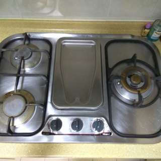 Rinnai Gas Stove (Reserved) ; Hood (Available)