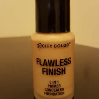 city color flawless finish primer , concealer ,foundation.