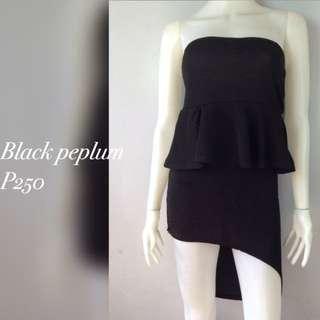 Black peplum