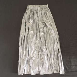 H&M Long Metallic Skirt