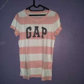 Kaos List Pink-Putih GAP