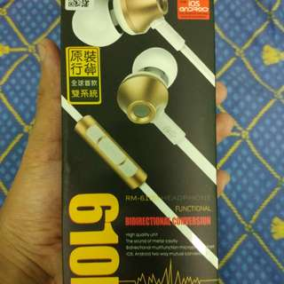 Earphone Remax 610D (very high quality sound)