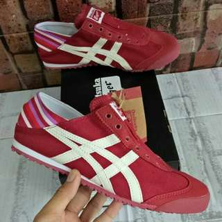 READY ONITSUKA TIGER MEXICO 66 SLIPON PARATY MAROON WHITE