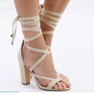 Lipstik Nude Tie Up Heels