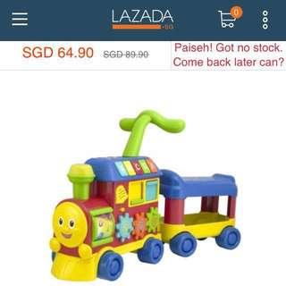 Baby Walker Ride-On Learning Train