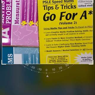 A* book Maths problem sums and free maths tips and tricks Psle book
