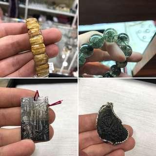 鈦晶、綠幽、天鐵、捷克隕石