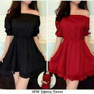 Ec DRESS FLAWES l atasan fashion baju dress dress pesta wanita