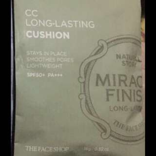 The Faceshop Miracle Finish CC Long Lasting Water Cushion Refill in V203 Natural Beige