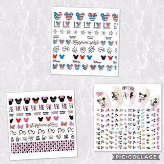 Disney Mickey & Minnie Mouse Nail Stickers (Disney Series 1)