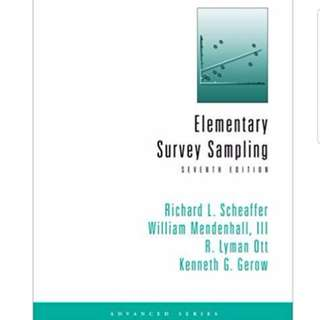 Elementary Survey Sampling 7th Edition