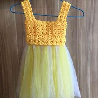 Handmade Crochet Tulle Dress