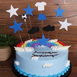 ⚽️Soccer theme party supplies - DIY cake deco / cake toppers / party deco