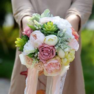 Forestry bridal bouquet superior quality