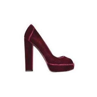 Aldo Open toe Red Velvet Pumps - size 9
