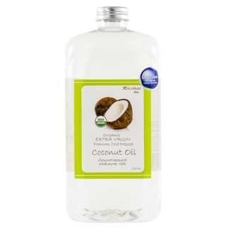 Organic Extra Virgin Coconut Oil (cold press 1000ml) USDA Organic certified