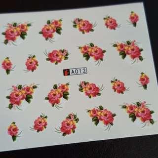 CNY Water Nail Art Sticker