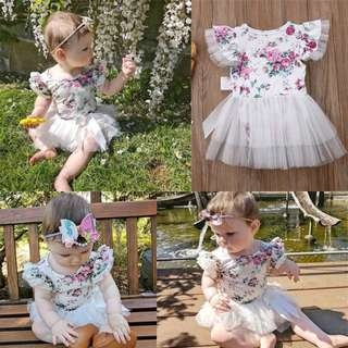 Baby Dress Floral White
