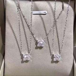 車花鑽石項鍊