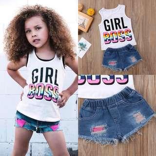 Girl BOSS Dress + Denim Jeans
