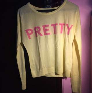 Yellow sweaters