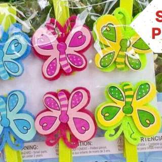 Wooden Butterfly Pegs